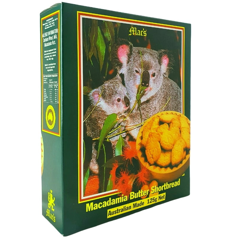 Macadamia Butter Shortbread - Live Koala Design Box 125g